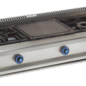 cocina de gas industrial 2 fuegos-plancha