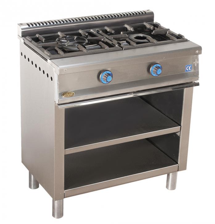 Cocina de gas industrial serie 550 cm 602e muebles y - Muebles cocina industrial ...