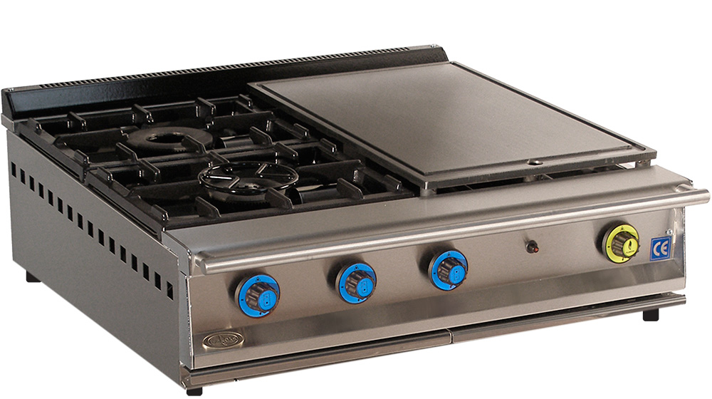 Cocina de gas industrial serie 900 cm 902 smp muebles y - Planchas de cocina a gas butano ...
