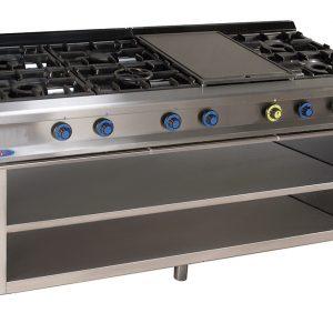 cocina de gas industrial serie900 926ep