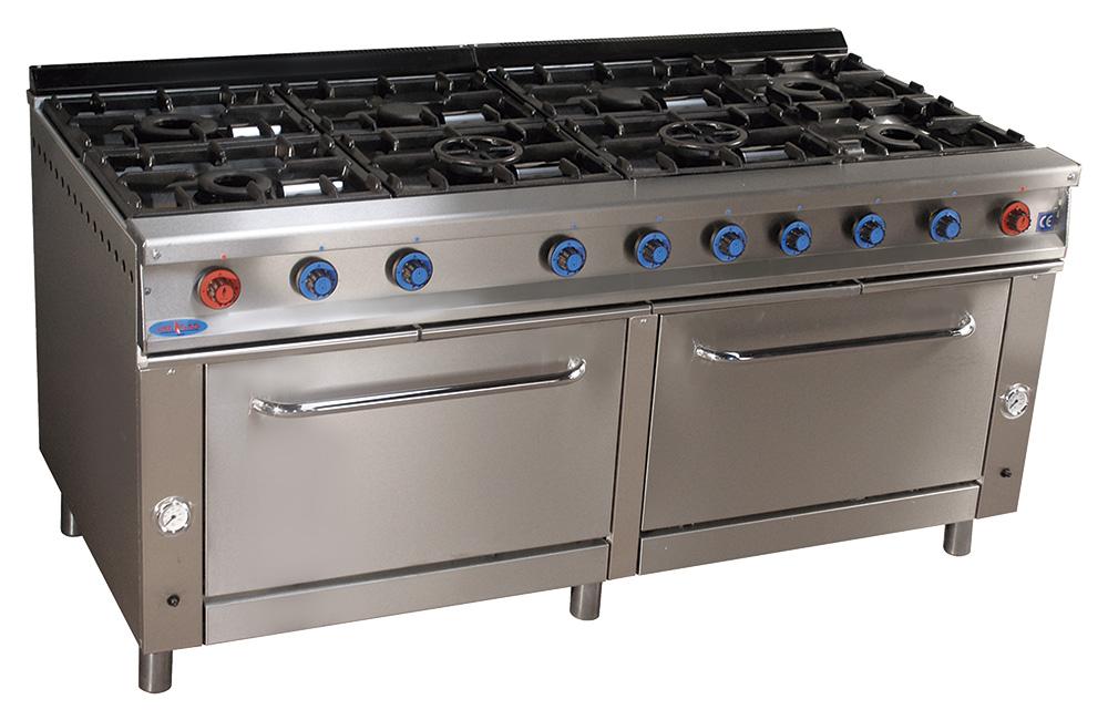 Cocina de gas industrial serie 900 cm 928 h muebles y - Muebles cocina industrial ...