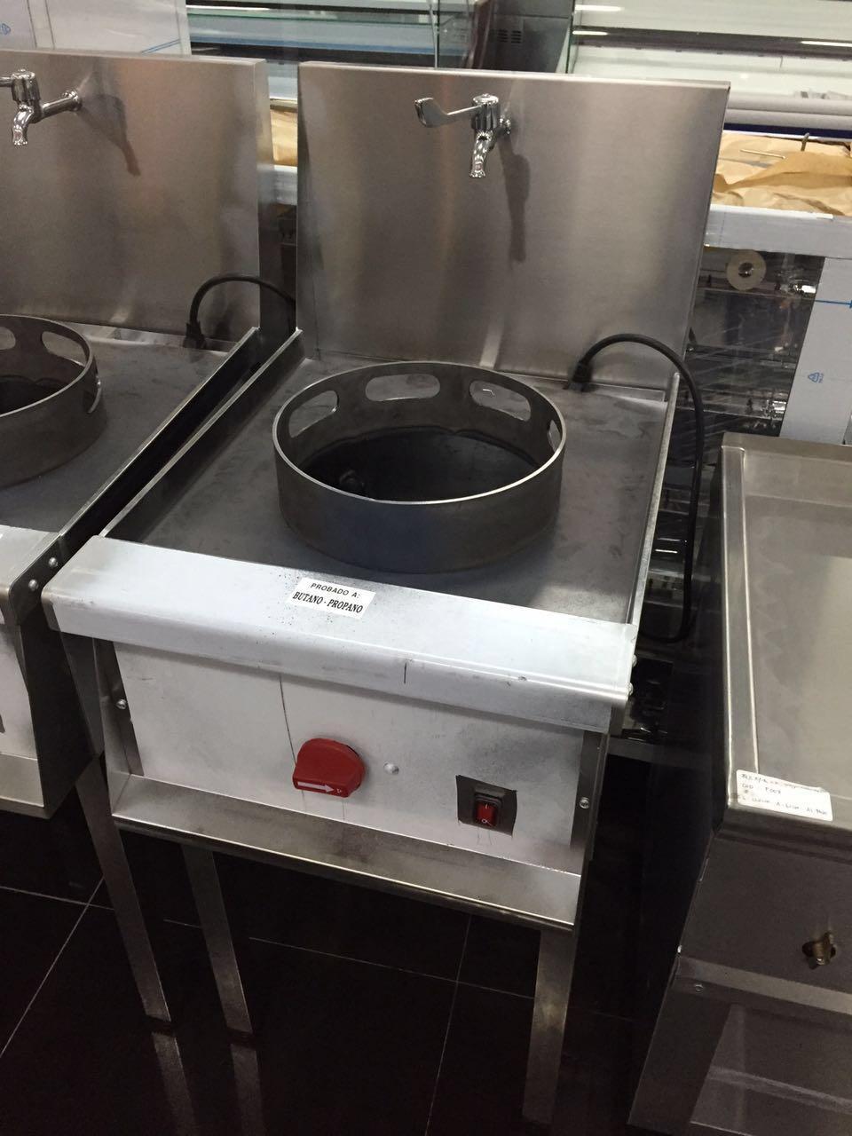 Cocina wok de 1 fuego 02 muebles y maquinaria hosteler a for Cocina hosteleria