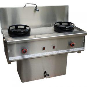 cocina wok 2 fuegos