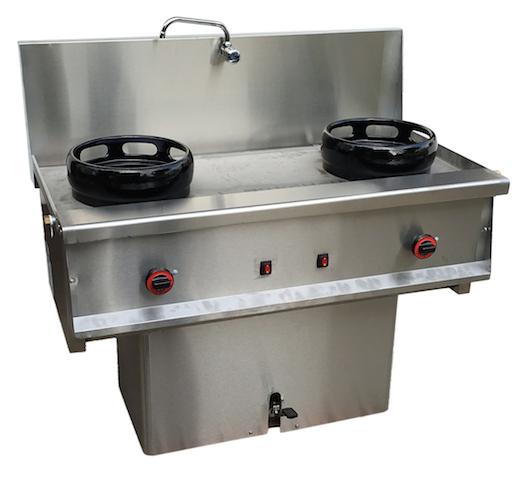 cocina wok de 2 fuegos muebles y maquinaria hosteler a