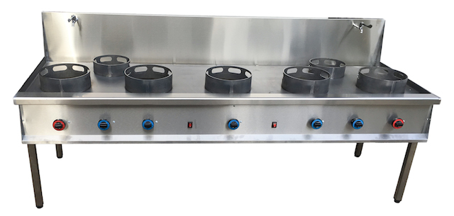 Cocina wok de 7 fuegos muebles y maquinaria hosteler a for Cocina wok industrial