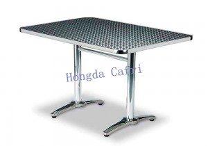mesa de exterior acero inoxidable grande