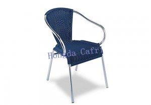 silla de terraza azul