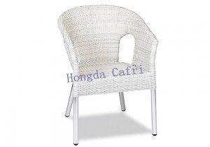silla de terraza blanca