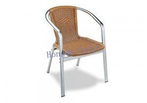 silla de terraza ocre
