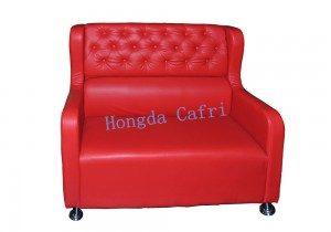 sofá para restaurante rojo 01