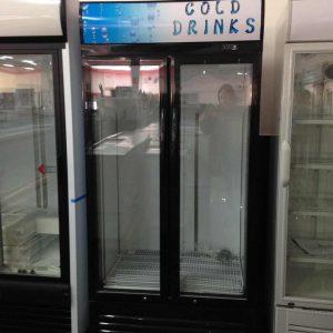 Armario frigorífico 2 puertas de cristal abatible