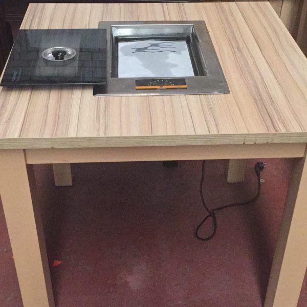 桌子带烤肉铁板2