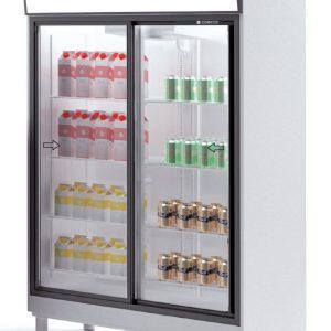 armario frigorífico 2 puertas cristal