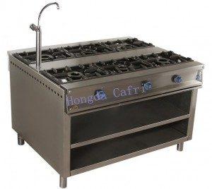 cocina de gas industrial 6 fuegos