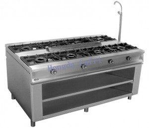 cocina de gas industrial 8 fuegos