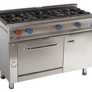 cocina de gas industrial serie550 613h