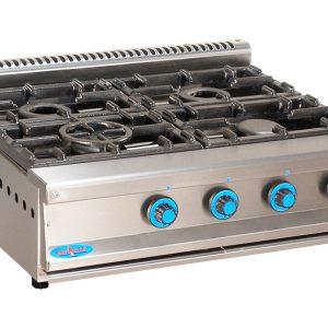 cocina de gas industrial serie750 804sm