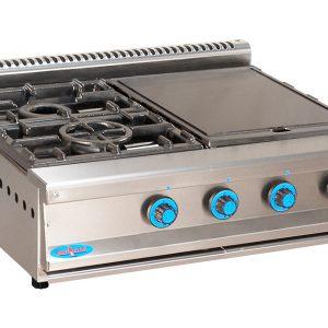 cocina de gas industrial serie750 804smp