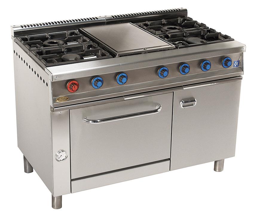 cocina de gas industrial serie750 814hp
