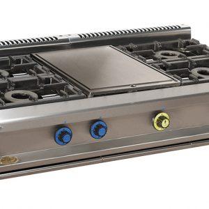 cocina de gas industrial serie750 814smp
