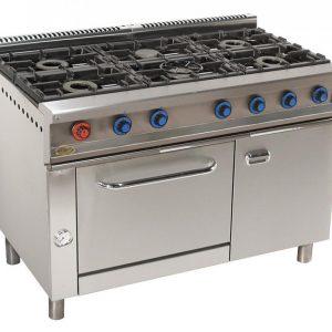 cocina de gas industrial serie750 816h