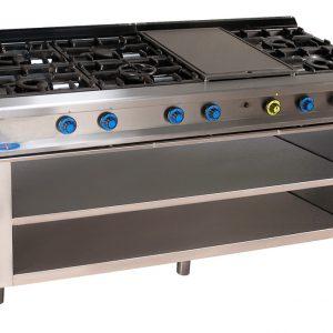 cocina de gas industrial serie750 828ep