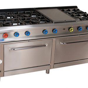 cocina de gas industrial serie750 828hp