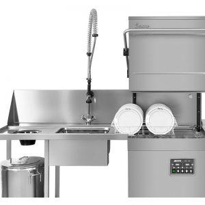 lavavajillas industrial capota y fregadero