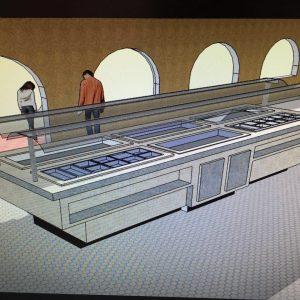 máquina de buffet diseño 1