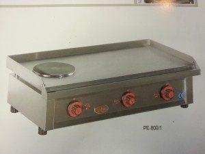 Plancha de asar eléctrica 800/1