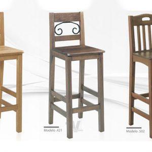 silla para restaurante alta