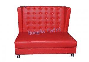 sofá para restaurante rojo 02