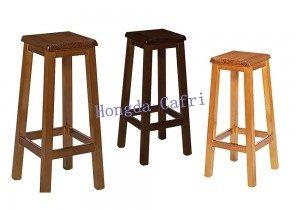 taburetes para bar de madera