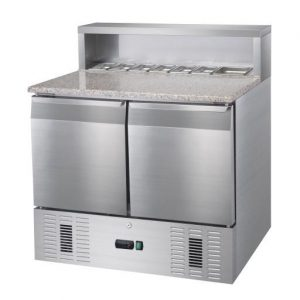 Mesa fría de refrigeracíon con cubetas